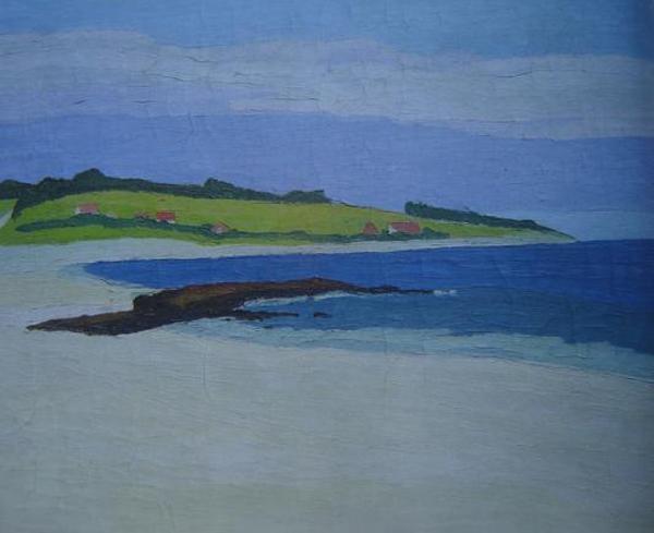 playa malvín 1930 óleo sobre madera 18x19 cm malvín 1932